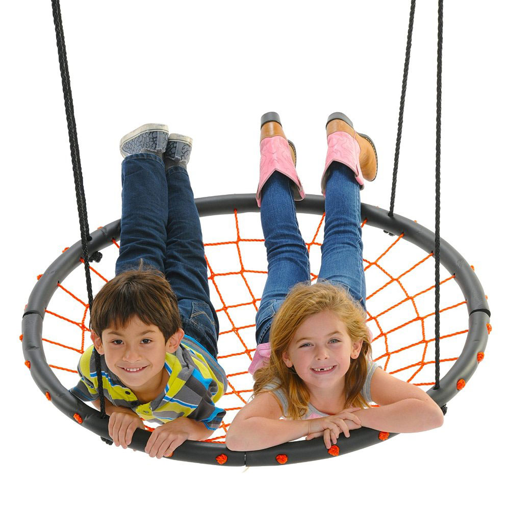 100cm-orange-nest-swing-with-kids